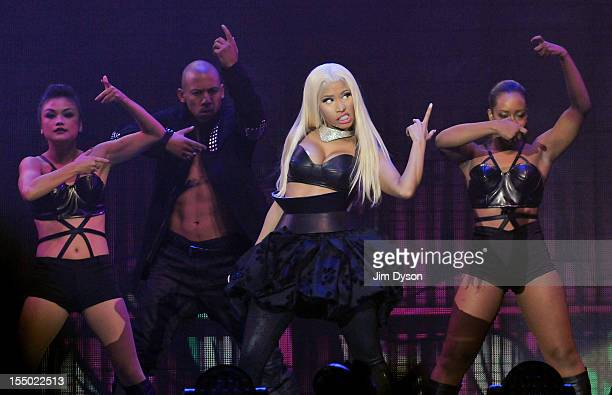 Nicki Minaj performs live on stage at 02 Arena on October 30 2012 in London England