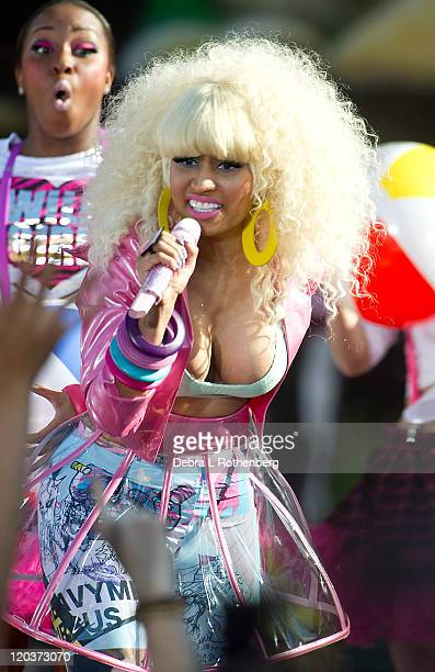 Nicki Minaj performs on ABC's 'Good Morning America' at Rumsey Playfield Central Park on August 5 2011 in New York City