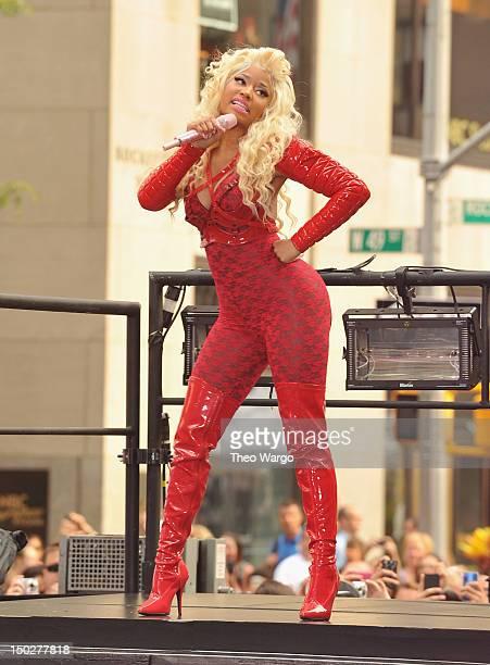 Nicki Minaj performs on NBC's Today at Rockefeller Plaza on August 14 2012 in New York City