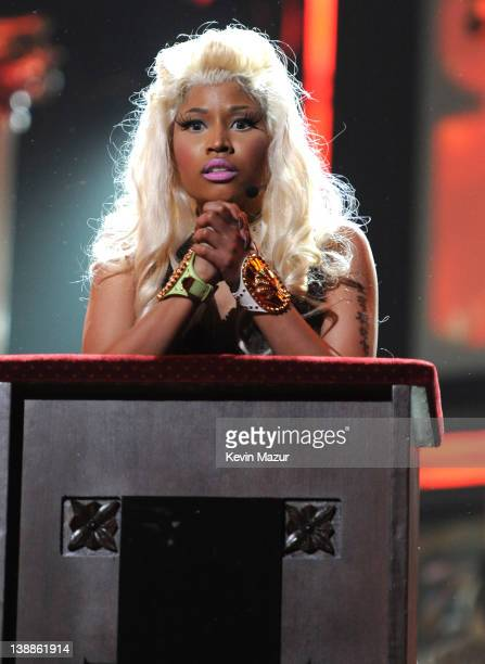 Nicki Minaj performs onstage at The 54th Annual GRAMMY Awards at Staples Center on February 12, 2012 in Los Angeles, California.