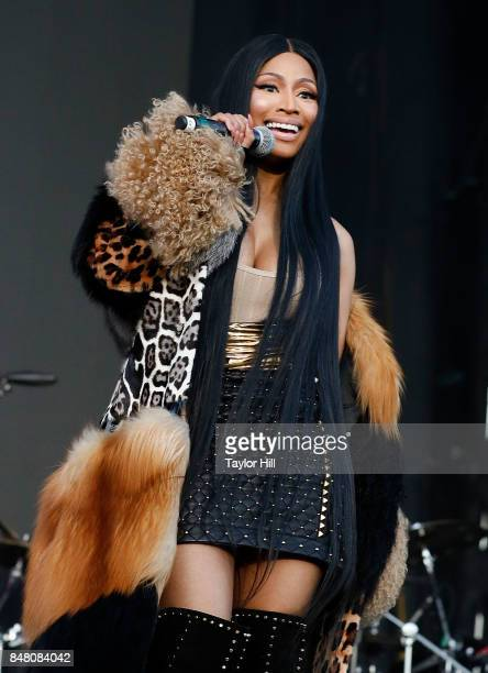 Nicki Minaj performs onstage during Day 2 at The Meadows Music Arts Festival at Citi Field on September 16 2017 in New York City