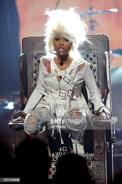 Nicki Minaj performs onstage during the 2010 BET Awards held at the Shrine Auditorium on June 27, 2010 in Los Angeles, California.
