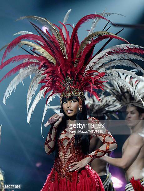 Nicki Minaj performs onstage during the 2015 MTV Video Music Awards at Microsoft Theater on August 30 2015 in Los Angeles California