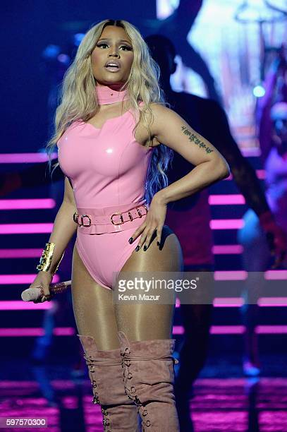 Nicki Minaj performs onstage during the 2016 MTV Video Music Awards at Madison Square Garden on August 28, 2016 in New York City.