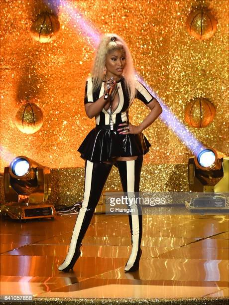 Nicki Minaj performs onstage during the 2017 MTV Video Music Awards at The Forum on August 27 2017 in Inglewood California