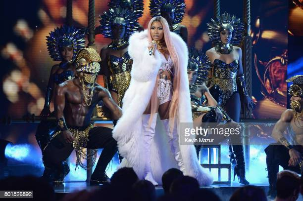 Nicki Minaj performs onstage during the 2017 NBA Awards Live on TNT on June 26 2017 in New York New York 27111_002