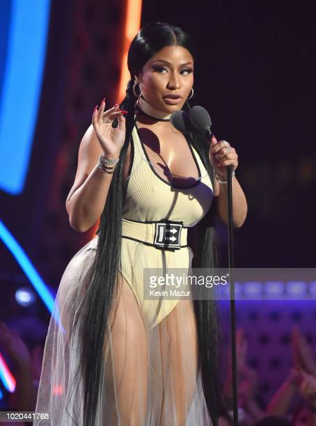 Nicki Minaj performs onstage during the 2018 MTV Video Music Awards at Radio City Music Hall on August 20 2018 in New York City