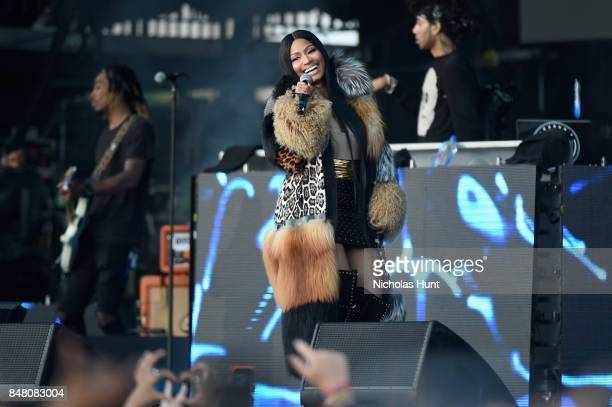 Nicki Minaj performs onstage during the Meadows Music and Arts Festival Day 2 at Citi Field on September 16 2017 in New York City