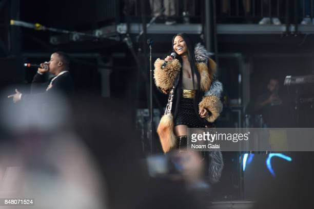 Nicki Minaj performs onstage with future during the Meadows Music and Arts Festival Day 2 at Citi Field on September 16 2017 in New York City