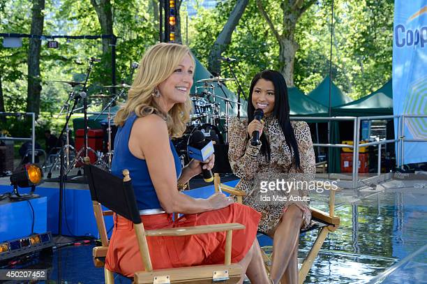 AMERICA Nicki Minaj stopped by the GMA Summer Concert Series in Central Park on GOOD MORNING AMERICA 6/6/14 airing on the ABC Television Network