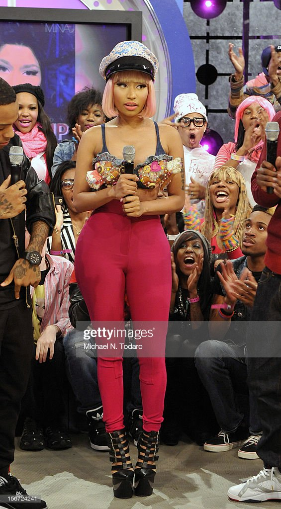 Nicki Minaj visits BET's 106 & Park at 106 & Park Studio on November 19, 2012 in New York City.