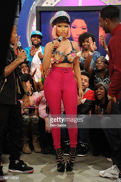 Nicki Minaj visits BET's 106 & Park Studio on November 19, 2012 in New York City.