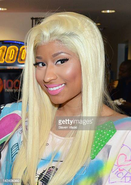 Nicki Minaj visits Elvis Duran The Z100 Morning Show at Z100 Studio on April 4 2012 in New York City