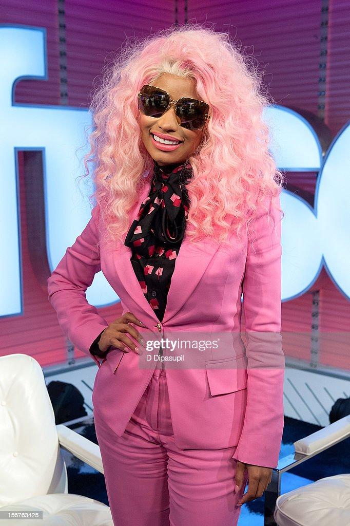 Nicki Minaj visits fuse's 'Top 20 Countdown' at fuse Studios on November 20, 2012 in New York City.