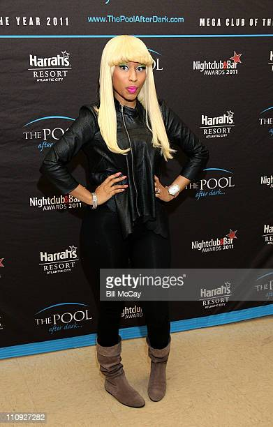 Nicki Minaj visits The Pool After Dark at Harrah's Resort March 26 2011 in Atlantic City New Jersey