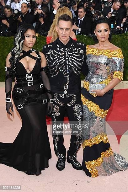 Nicki MinajJeremy Scott and Demi Lovato attend the 'Manus x Machina Fashion In An Age Of Technology' Costume Institute Gala at Metropolitan Museum of...