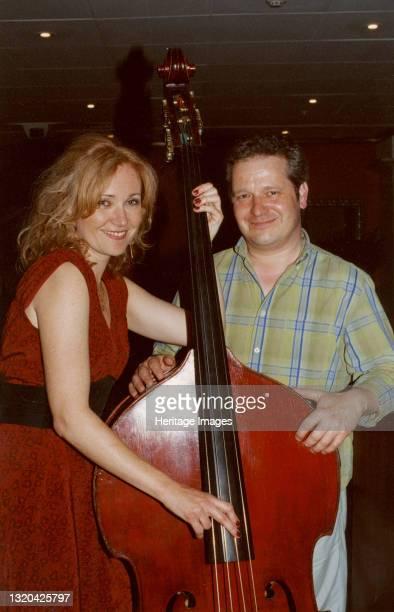 Nicki Parrott, Malcolm Creese, Blackpool Jazz Party, 2007. Artist Brian Foskett.