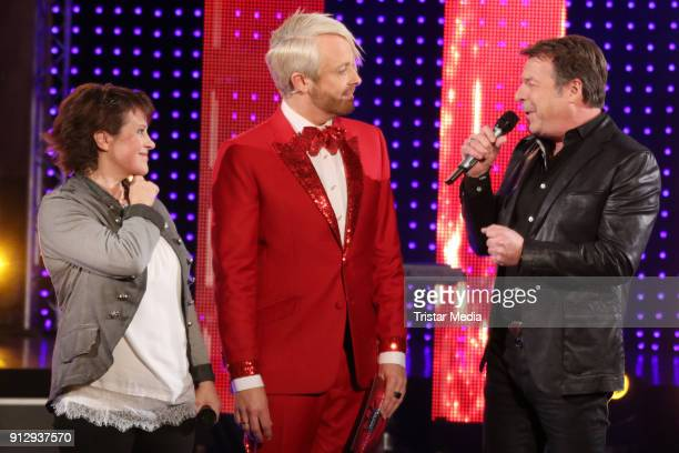 Nicki Ross Antony and Patrick Lindner during the TV Show 'Meine Schlagerwelt Die Party' hosted by Ross Antony on January 31 2018 in Leipzig Germany