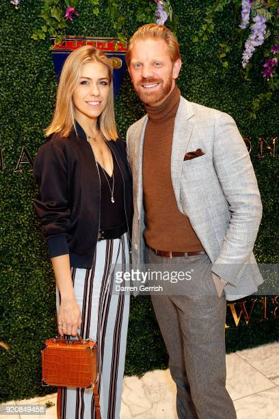 Nicki Shields and Alistair Guy attend an Aspinal event at the Aspinal store at 16 Regent Street St James on February 19 2018 in London England