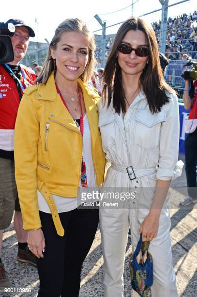 Nicki Shields and Emily Ratajkowski attend ABB FIA Formula E BMW i Berlin EPrix 2018 on May 19 2018 in Berlin Germany