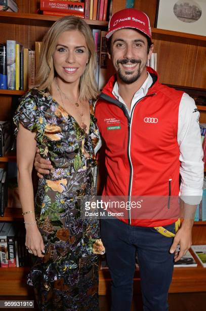 Nicki Shields and Formula E racing driver Lucas di Grassi attend the ABB Formula E dinner in Berlin with Emily Ratajkowski ahead of the BMW i Berlin...