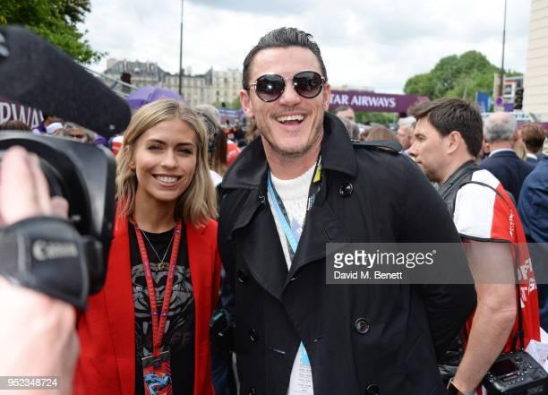 Nicki Shields and Luke Evans attend the ABB FIA Formula E Qatar Airways Paris EPrix 2018 on April 28 2018 in Paris France