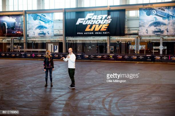 Nicki Shields and Rowly French the creative director of the show talking about what fans can expect during the 'Fast Furious Live' media launch day...