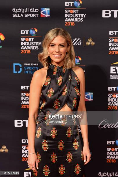 Nicki Shields arrives at the red carpet during the BT Sport Industry Awards 2018 at Battersea Evolution on April 26 2018 in London England The BT...
