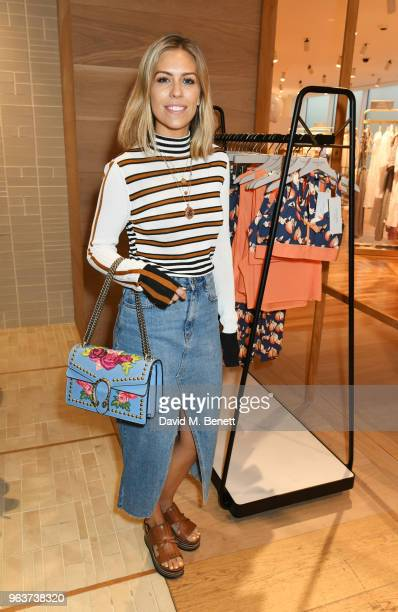 Nicki Shields attends a VIP dinner hosted by Sweaty Betty to celebrate their new Selfridges shop at Hemsley Hemsley in Selfridges on May 30 2018 in...