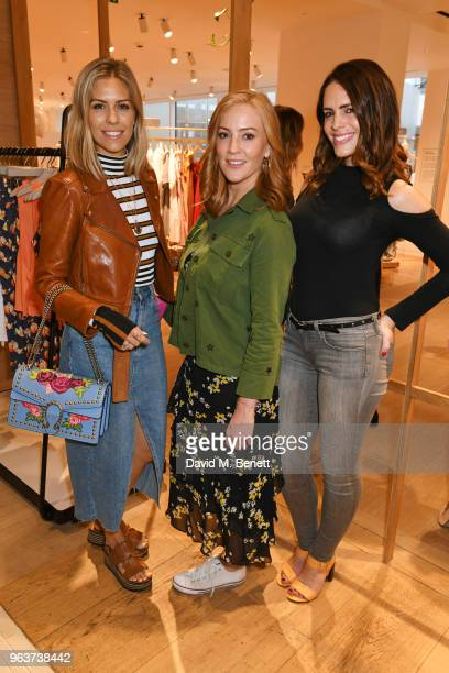 Nicki Shields SarahJane Mee and Susie Amy attend a VIP dinner hosted by Sweaty Betty to celebrate their new Selfridges shop at Hemsley Hemsley in...