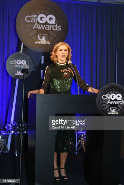 Nicki Shields speaks onstage at the GQ Car Awards 2018 in association with Michelin at Corinthia London on February 5 2018 in London England
