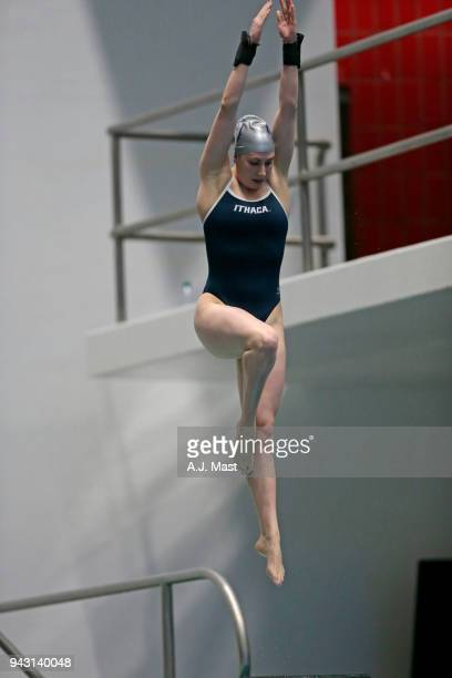 Nickie Griesemer of Ithaca College competes in the 3 meter springboard during the Division III Men's and Women's Swimming Diving Championships held...
