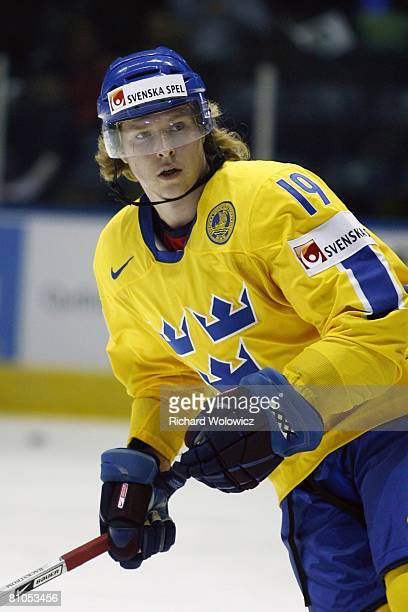 Nicklas Backstrom of Sweden skates during the warm up session prior to facing France at the IIHF World Ice Hockey Championship preliminary round at...