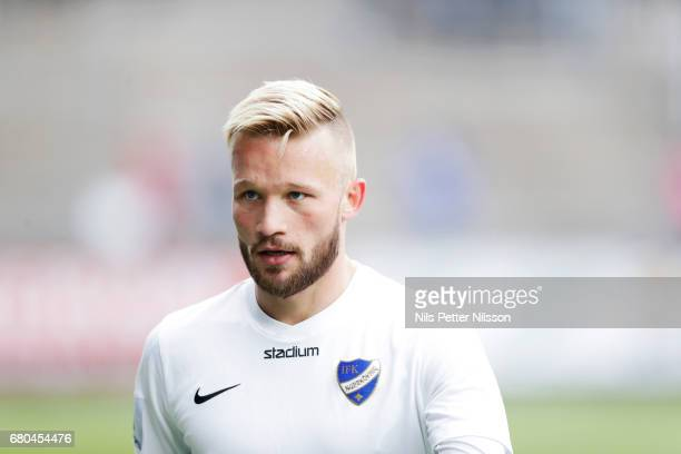 Nicklas Barkroth of IFK Norrkoping ahead of the Allsvenskan match between IFK Norrkoping and GIF Sundsvall at Ostgotaporten on May 8 2017 in...