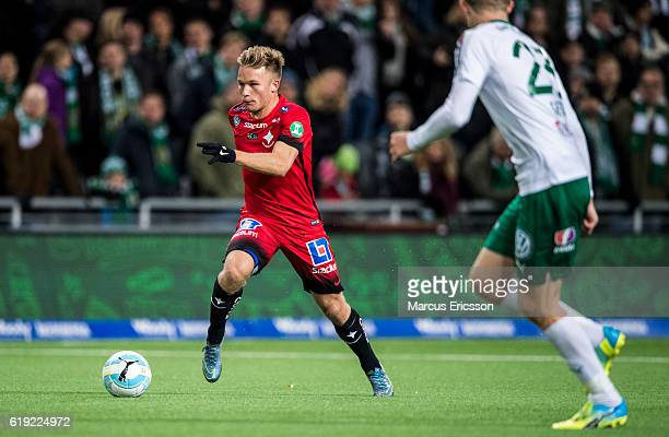 Nicklas Barkroth of IFK Norrkoping during the Allsvenskan match between Hammarby IF and IFK Norrkoping at Tele2 Arena on October 30 2016 in Stockholm...