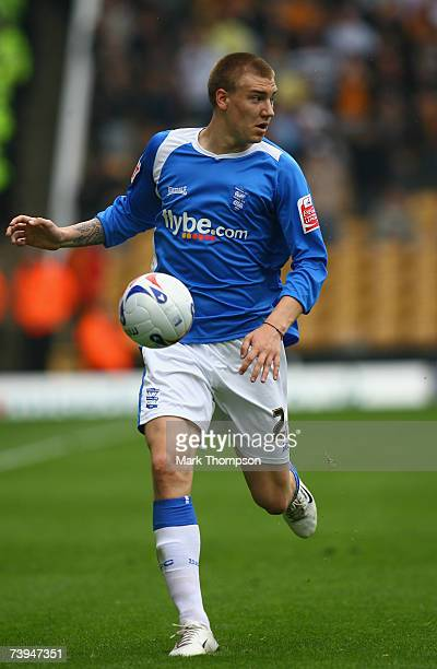 Nicklas Bendtner of Birmingham City in action during the Coca Cola Championship match between Wolverhampton Wanderers and Birmingham City at Molineux...