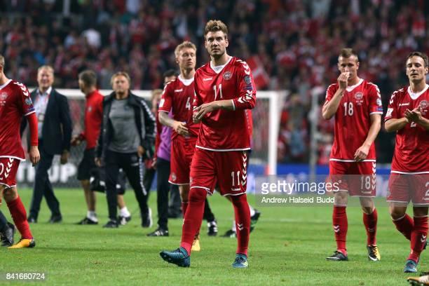 Nicklas Bendtner of Denamrk after the FIFA 2018 World Cup Qualifier between Denmark and Poland at Parken Stadion on September 1 2017 in Copenhagen