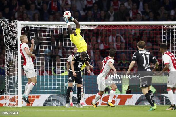 Nicklas Bendtner of Rosenborg BK Matthijs de Ligt of Ajax Johan Laedre Bjordal of Rosenborg BK Lasse Schone of Ajax goalkeeper Andre Onana of Ajax...