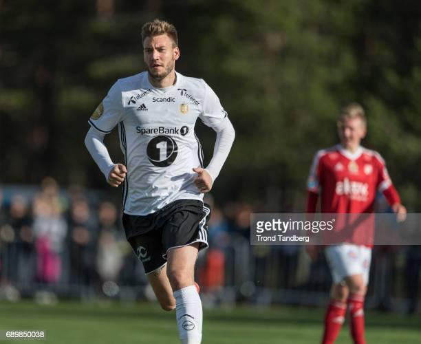 Nicklas Bendtner of Rosenborg during Second Round Norwegian Cup between Tynset IL v Rosenborg at Nytromoen on May 24 2017 at Nytromoen in Tynset...