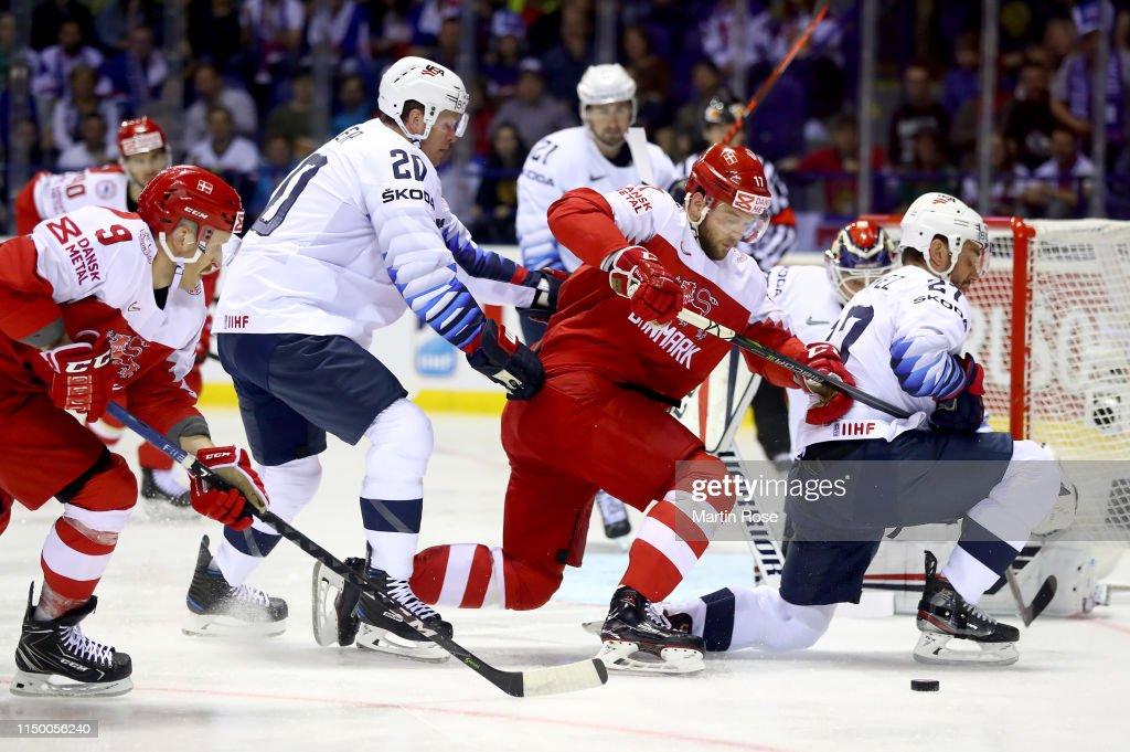 SVK: Denmark v United States: Group A - 2019 IIHF Ice Hockey World Championship Slovakia