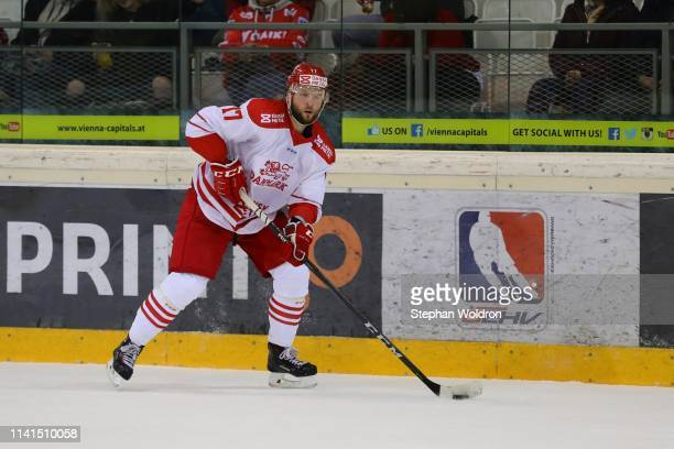 Nicklas Jensen of Denmark during the Austria v Denmark - Ice Hockey International Friendly at Erste Bank Arena on May 5, 2019 in Vienna, Austria.