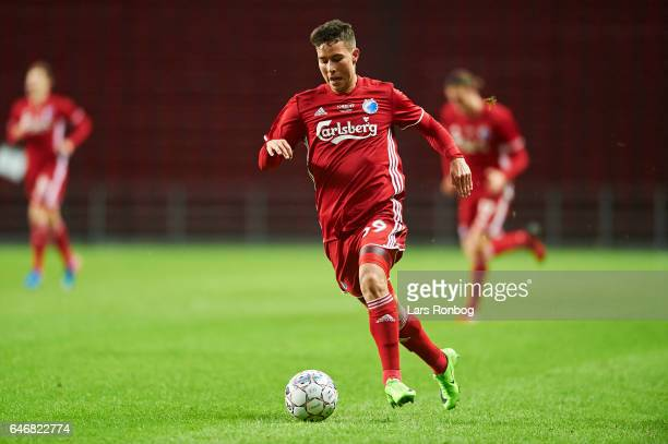 Nicklas Rojkjar of FC Copenhagen controls the ball during the Danish Cup DBU Pokalen match match between B93 and FC Copenhagen at Telia Parken...