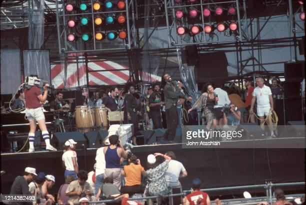 Nickolas Ashford and Valerie Simpson are shown performing as Ashford and Simpson at Live aid on July 13, 1985. .