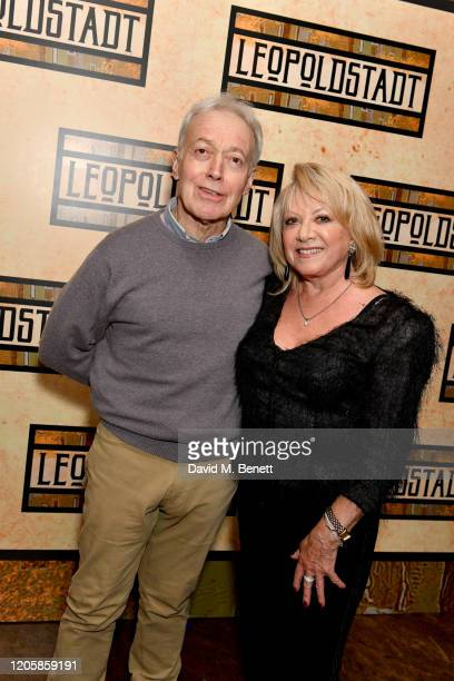 Nickolas Grace and Elaine Paige attend the After Party of the press night performance of Tom Stoppard's Leopoldstadt at the Century Club on February...