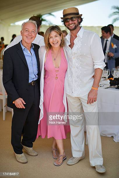 Nickolas Grace Penny Smith and Vince Leigh attend the Veuve Clicquot Gold Cup final at Cowdray Park Polo Club on July 21 2013 in Midhurst England