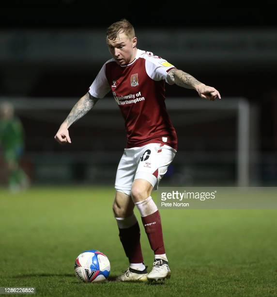 Nicky Adams of Northampton Town in action during the Papa John's Trophy match between Northampton Town and Stevenage at PTS Academy Stadium on...