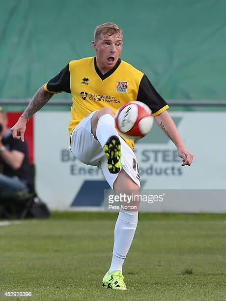 Nicky Adams of Northampton Town in action during the PreSeason Friendly match between Sheffield FC and Northampton Town at the Coach Horses Ground on...