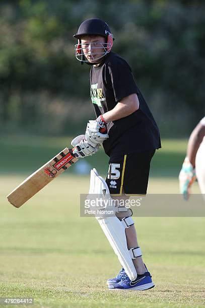 Nicky Adams of Northampton Town looks on during a 20/20 Cricket Match between Bold Dragoon CC and Northampton Town FC in aid of the Leon Barwell...