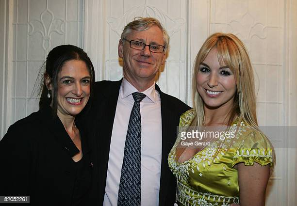 Nicky and Bruce McWilliams pose with Television personality Natalie Michaels during the official launch of her new book `The Menagerie' at Elewatan...