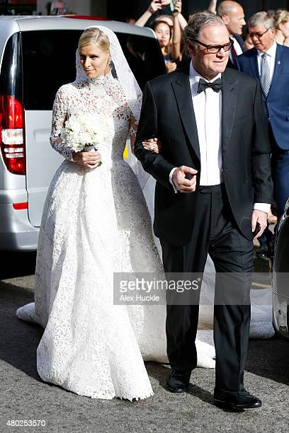 Nicky and Richard Hilton seen leaving Claridge's Hotel for Nicky Hilton's Wedding on July 10 2015 in London England Photo by Alex Huckle/GC Images